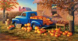 Selling Pumpkins - Scratch and Dent Nostalgic / Retro Jigsaw Puzzle