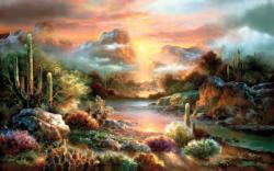 Sunset Splendor Sunrise / Sunset Jigsaw Puzzle