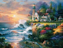Twilight Beacon Sunrise / Sunset Jigsaw Puzzle