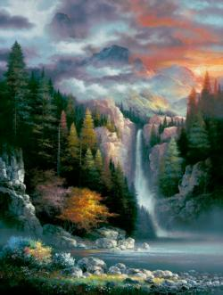 Misty Falls Lakes / Rivers / Streams Jigsaw Puzzle