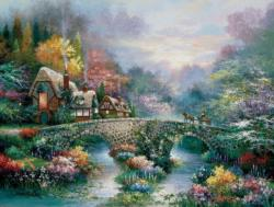 Peaceful Cottage Cottage / Cabin Jigsaw Puzzle
