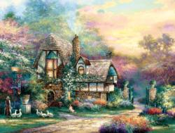 Weekend's Retreat Cottage / Cabin Jigsaw Puzzle