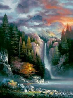 Misty Falls - Scratch and Dent Lakes / Rivers / Streams Jigsaw Puzzle
