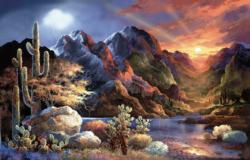 Saturday Sunset Sunrise / Sunset Jigsaw Puzzle