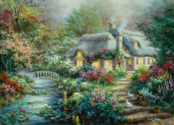 Little River Cottage Cottage / Cabin Jigsaw Puzzle