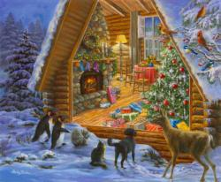 Christmas Cabin Cottage / Cabin Jigsaw Puzzle