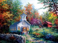 Worship in the Countryside Flowers Jigsaw Puzzle