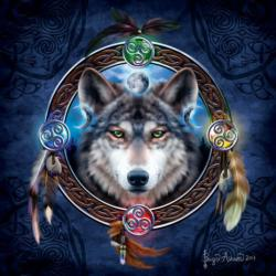 Celtic Wolf Guide Cultural Art Jigsaw Puzzle