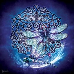 Celtic Dragonfly Cultural Art Jigsaw Puzzle