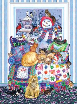 Winter Quilt Winter Jigsaw Puzzle