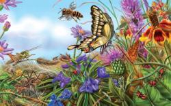 Prairie Spread Flowers Jigsaw Puzzle
