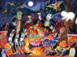 Monster Party Time Halloween Jigsaw Puzzle