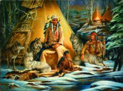 Mystical Meeting Native American Jigsaw Puzzle