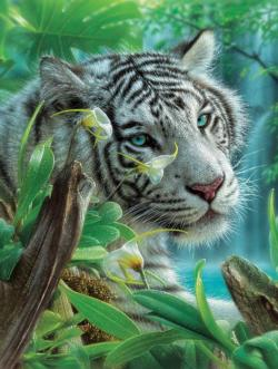 The White Tiger of Eden Tigers Jigsaw Puzzle