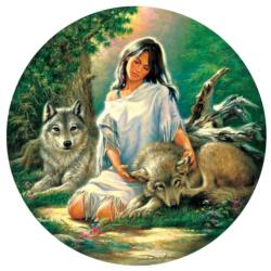 Trusted Friends Native American Jigsaw Puzzle
