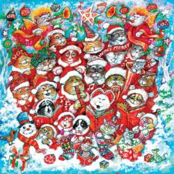 Cat Chorus Christmas Jigsaw Puzzle
