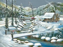 Winter Season Cottage / Cabin Jigsaw Puzzle