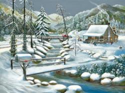 Winter Season Cottage / Cabin Jigsaw Puzzle
