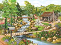 Spring Season Cottage / Cabin Jigsaw Puzzle