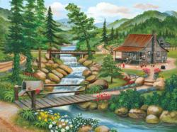 Summer Season Cottage / Cabin Jigsaw Puzzle