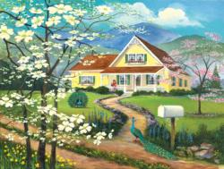 The Yellow House Domestic Scene Jigsaw Puzzle