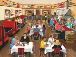 Downtown Cafe - Scratch and Dent Domestic Scene Jigsaw Puzzle