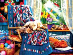 Springtime Nap Dogs Jigsaw Puzzle