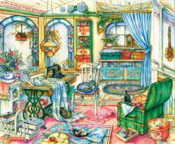 My Sewing Room Domestic Scene Jigsaw Puzzle