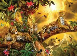 Jungle Jaguars Sunrise / Sunset Large Piece