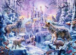 Castle Wolves Snow Jigsaw Puzzle