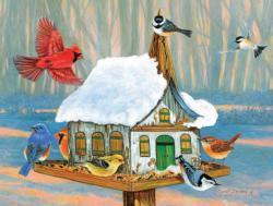 Sunday Morning Gathering Birds Jigsaw Puzzle
