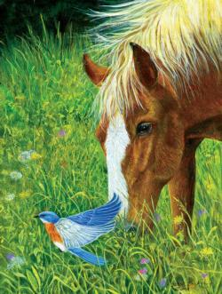 Dinner for Two Horses Jigsaw Puzzle