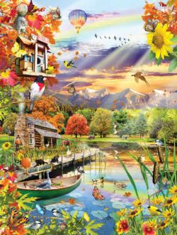 Autumn Lake Lakes / Rivers / Streams Jigsaw Puzzle