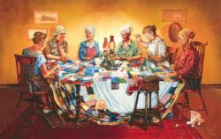 A Quilting Party Domestic Scene Jigsaw Puzzle