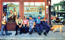 Andy's Barber Shop Nostalgic / Retro Large Piece