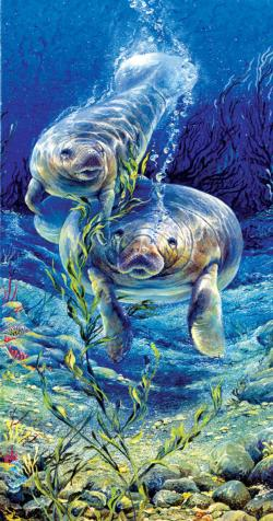 Manatee Dive Under The Sea Jigsaw Puzzle