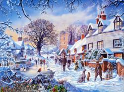 A Winter Village Christmas Jigsaw Puzzle