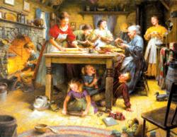 Family Traditions Domestic Scene Large Piece