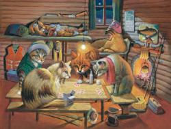Cats Playing Poker Pi Day Jigsaw Puzzle