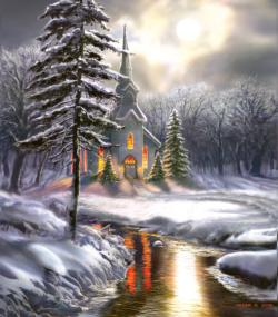 Wildwood Church Winter Jigsaw Puzzle