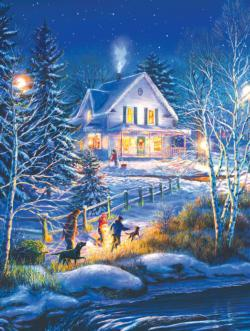 On the Way Home Christmas Jigsaw Puzzle