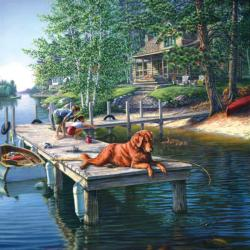 Summer Vacation Cottage / Cabin Jigsaw Puzzle