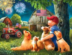 Friends on the 4th Fireworks Jigsaw Puzzle