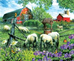 Pleasant Valley Sheep Farm Farm Animals Jigsaw Puzzle