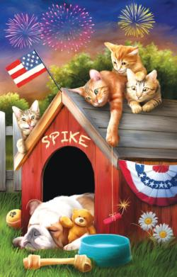 Mischief on the Fourth Flags Jigsaw Puzzle