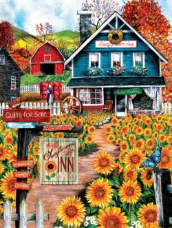 Welcome to the Sunflower Inn Nostalgic / Retro Large Piece