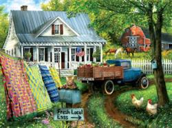 Countryside Living Domestic Scene Jigsaw Puzzle