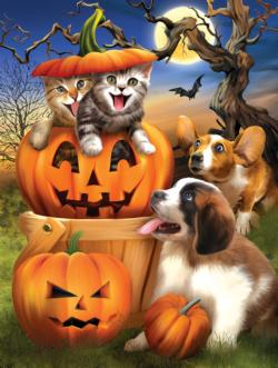 Boo Cat Halloween Jigsaw Puzzle