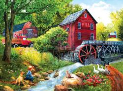 Playing Hookey at the Mill Spring Jigsaw Puzzle