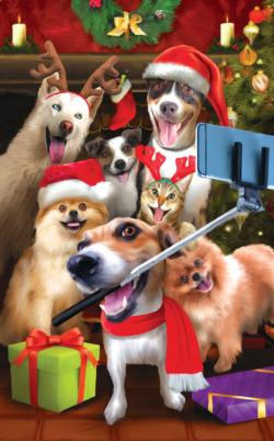 Christmas Selfie Dogs Jigsaw Puzzle